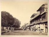 A Calcutta street view an albumen photo from the 1890's