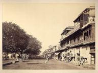 A Calcutta street view an albumen photo from the 1890's
