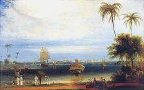 Calcutta from Garden Reach-W Daniell-1834
