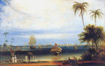 Calcutta from Garden Reach-W Daniell-1834