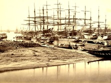 View of shipping from Hastings' Bridge -BourneX