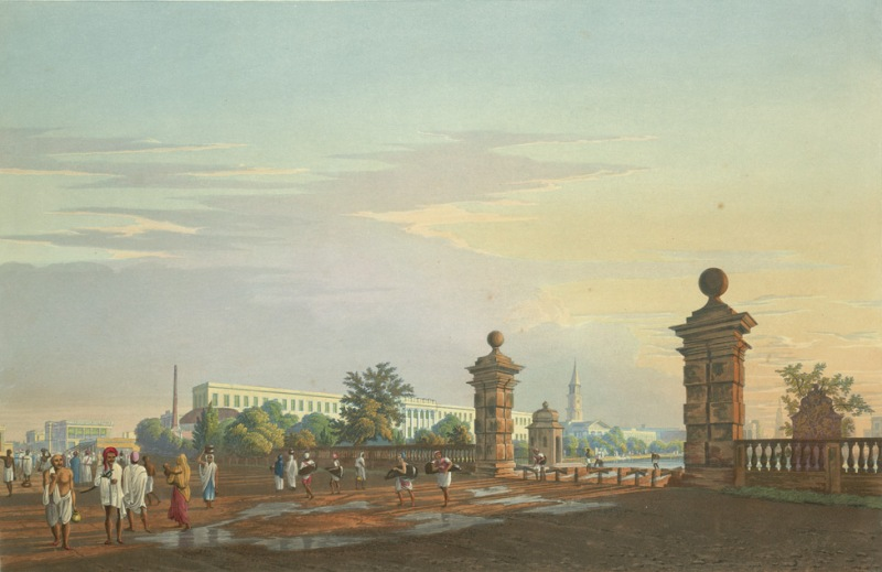 A View of Tank Square, Calcutta , from the West by James Baillie Fraser 1826