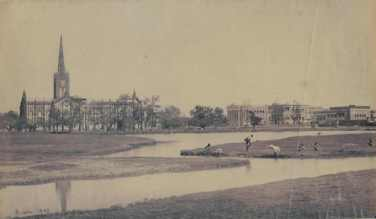 The Cathedral and Bishop's Palace Calcutta-bourne-1875s