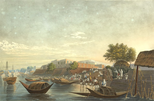Chandpal Ghat by James Baillie Fraser - 1826