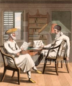 European Gentleman in India learning Arabic