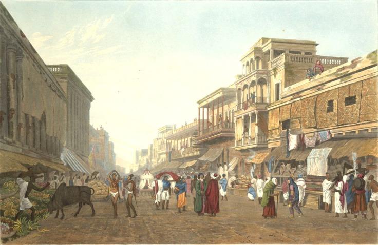 BlackTownBazaar Leading to Chitpore Road of 1819-JamesFraser