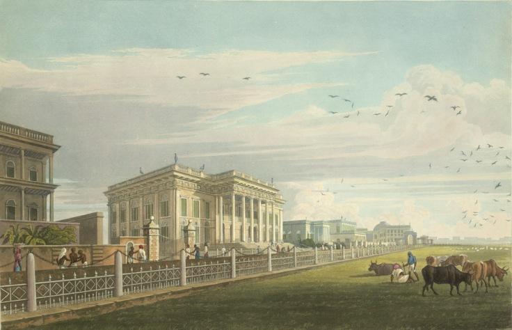 Town+Hall+Calcutta+A+View-James+Baillie+Fraser1826