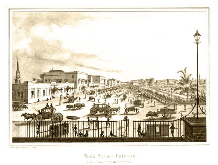 Tank Square Calcutta taken from the Scotch Church, 1847