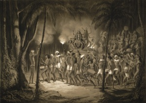 Procession of the Goddess Kali - Calcutta October 1841