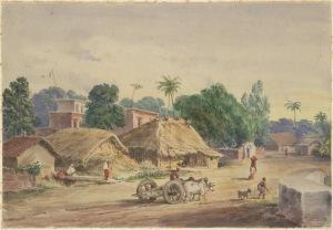 View of Circular Road, Calcutta- Prinsep, Edward Augustus 1848