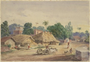 View of Circular Road, Calcutta- Prinsep, Edward Augustus 1848