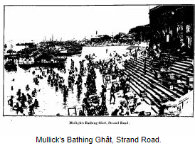 Armenian Ghat illustrated as Mullick Ghat.