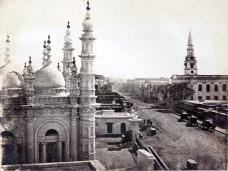 Dhurrmtollah Street in 1880s. Photograph: Johnston and Hofman. c1880s