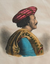 Lithograph by C. E. Pierre Motte (1785 – 1836), after a painting by A Geringer, published by Marlet & Co., later hand coloured c1830