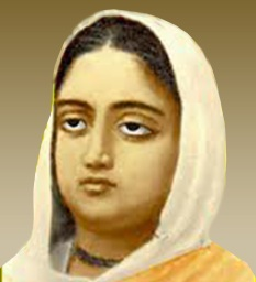 Portrait of Rani Rashmoni recreated based on an anonymous painting.