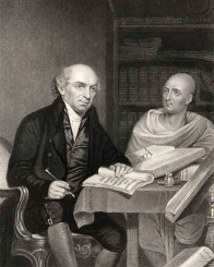 William Carey and Pundit. Engraved by J Jenkins after Home Courtesy:NPG
