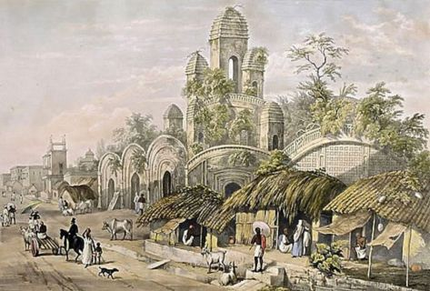Hindoo Mut in the Chitpore Bazaar_1882Charles_D'Oyly