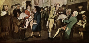 Edward Lloyd's coffee house in the late seventeenth century