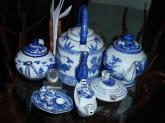 e and white ceramic tea-set of China