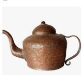 Kyūsu back hand(le) teapot), Taishō era ca. 1921-1925