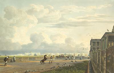 Esplanade . Artist: William Daniell (1769-1837)James Baillie Fraser.1814