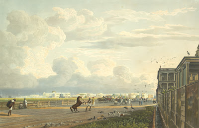 Esplanade . Artist: William Daniell (1769-1837)James Baillie Fraser.1814