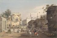 Horsemen near Old Fort (Tank Square) (now CliveStreet)_Charles D'Oyly1842. Courtesy:_BL