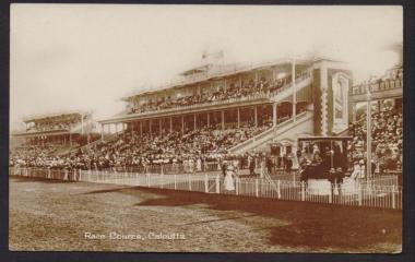 Race Cource Calcutta. Undated/ photographer unknown. Source: Hippostcard (New Market)