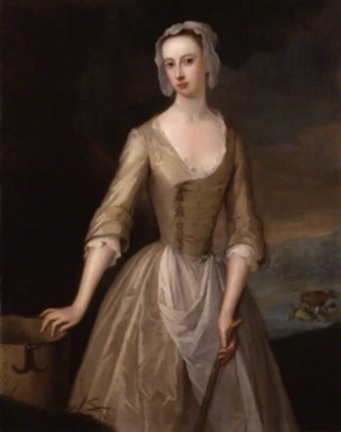 Catherine Hyde Douglas (1701-1777), Duchess of Queensberry, Painted by Jervas. 1720