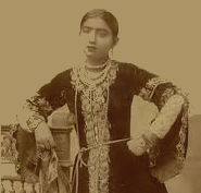 Gauhar Jaan. Earliest Indian voice recorded on gramophone in 1902. Lived in Dhurrumtollah